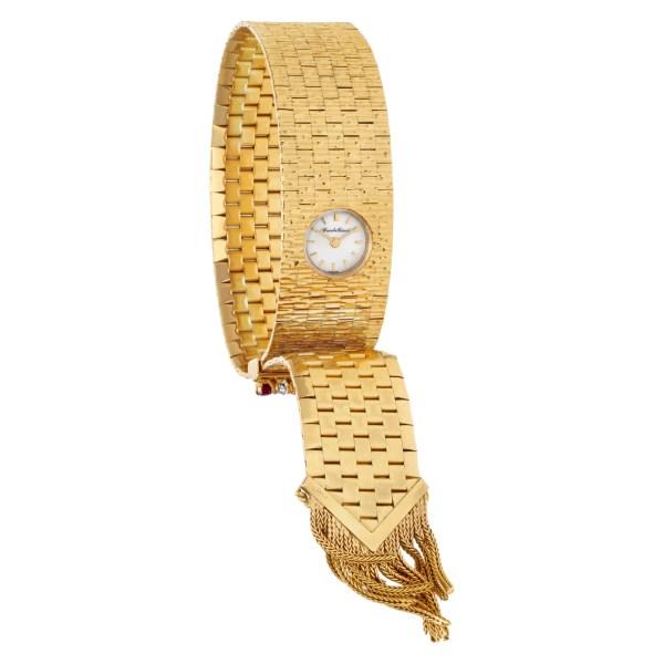 Bueche Girod Cocktail 1234 18k Yellow Gold Grey dial 11mm Manual watch