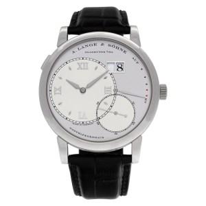 A. Lange & Sohne Lange 1 115.025 Platinum Silver dial 42mm Manual watch