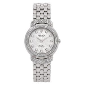 Rolex Cellini 6673 18k White Gold Diamond Dial, Bezel & Lugs 26mm Quartz watch