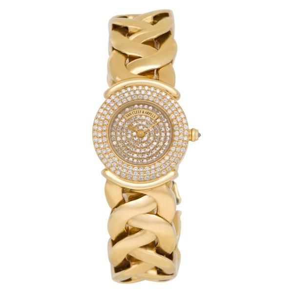 Van Cleef & Arpels Classic 122671 18k Pave dial 24.5mm Quartz watch