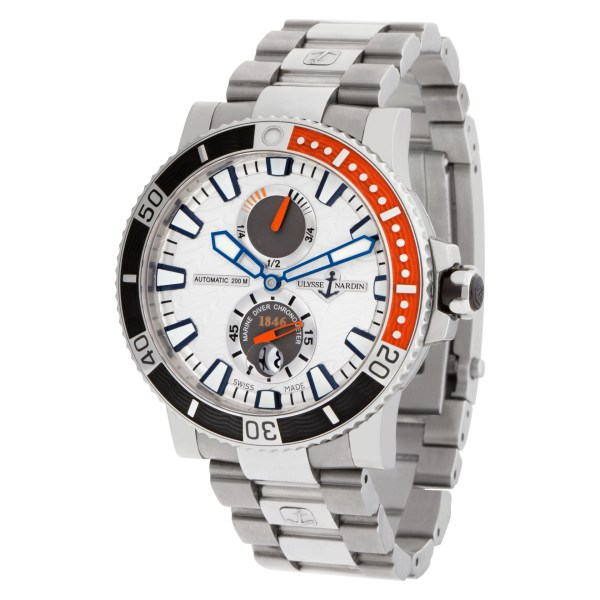 Ulysse Nardin Maxi Marine 263-90 Stainless Steel Silver dial 45mm Automatic watc