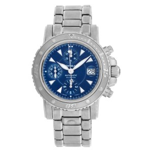 MontBlanc sport 7034 Stainless Steel Blue dial 41mm Automatic watch