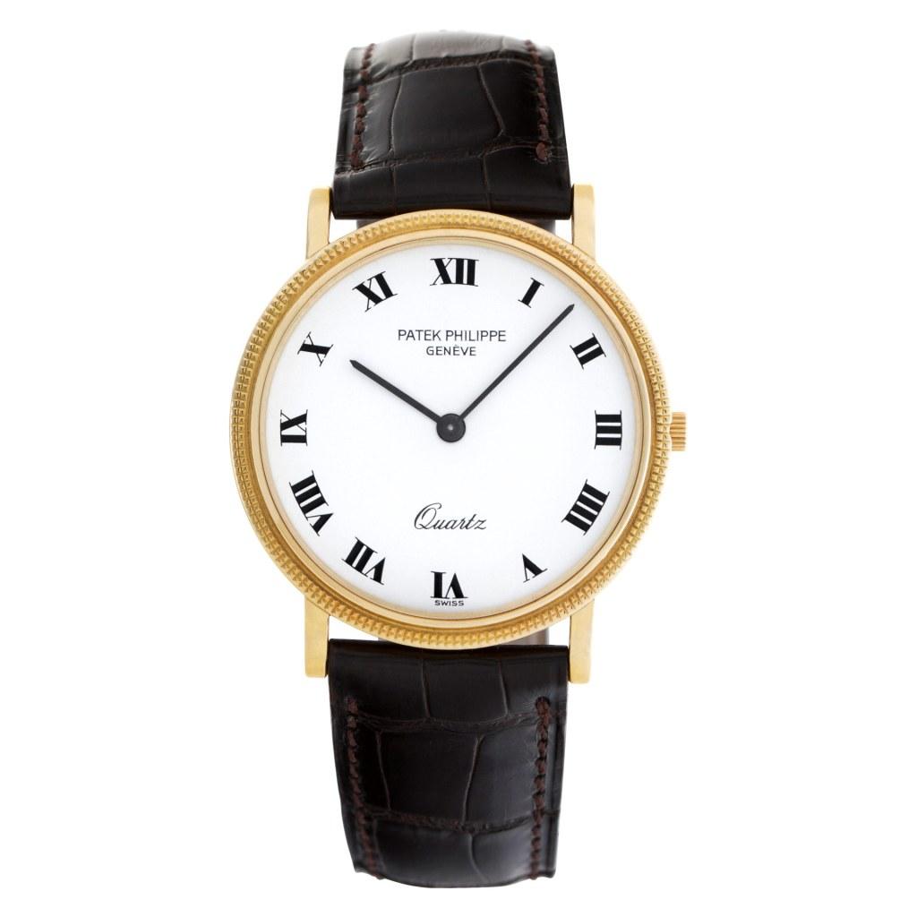 Patek Philippe Calatrava 3744 18k White dial 33mm Quartz watch