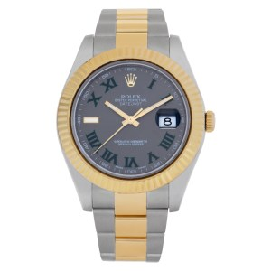 Rolex Datejust 116333 18k & Stainless Steel slate dial 41mm Automatic watch