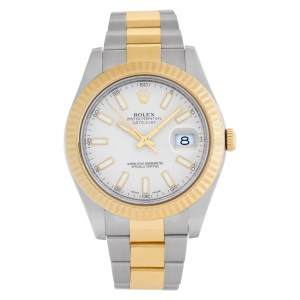 Rolex    Datejust Ii 116333 18k & Stainless Steel Ivory dial 41mm Automatic watc