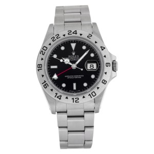 Rolex Explorer II 16570 Stainless Steel Black dial 40mm Automatic watch