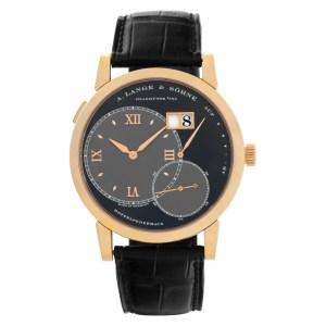 A. Lange & Sohne Lange 1 115.031 18k rose gold Black dial 41.8mm Manual watch