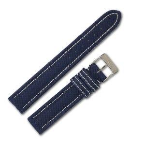Breitling blue stitch padded nylon strap (18x16)