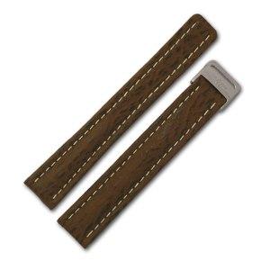 Breitling brown sharkskin strap (15x14)