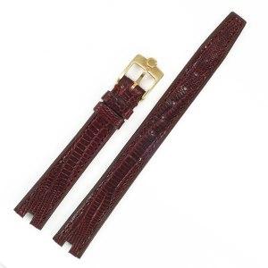 Ladies Concord burgandy crocodile strap. (12x10)