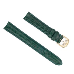 Baume & Mercier green lizard strap (14mm x 13mm) with tang buckle