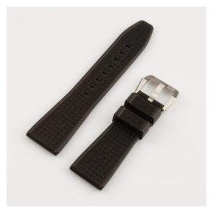 Bell & Ross black textured rubber band with stainless steel tang buckle (22x18)
