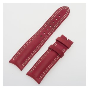 Jaeger-LeCoultre red calfskin strap with white stitch (18x16)