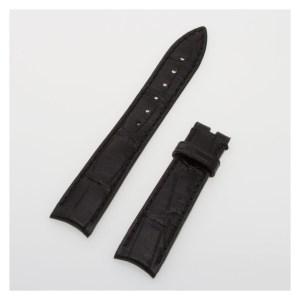 Backes & Strauss shiny / glossy black alligator strap (16x14)