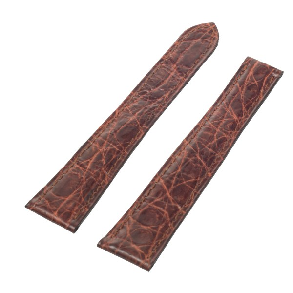 Cartier shiny brown crocodile strap (17.5 x 14) .
