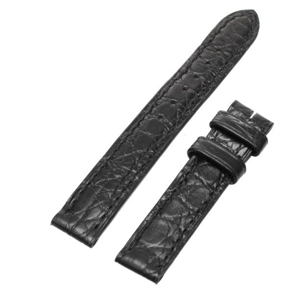 Cartier semi-mat black crocodile skin (12x12)