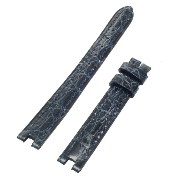 Cartier shiny navy blue crocodile skin (11x10.5)