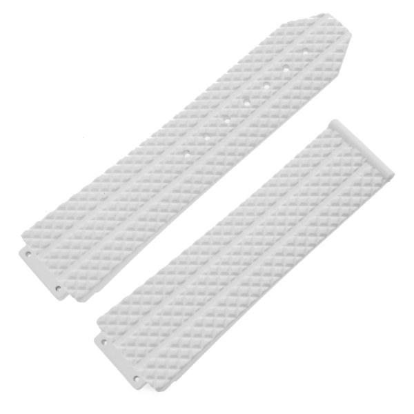 Hublot white rubber strap 24mm x 21mm (12-25-80, 6-25-100)