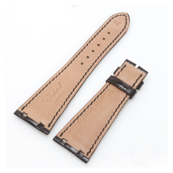 Chopard black shiny alligator strap (24mm x 15.5mm)