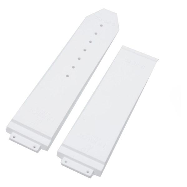 Hublot white rubber structured strap (25mm x 22mm)