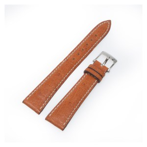 Van Cleef & Arpels bright brown ostrich strap with stainless steel tang buckle 16mm x 12mm