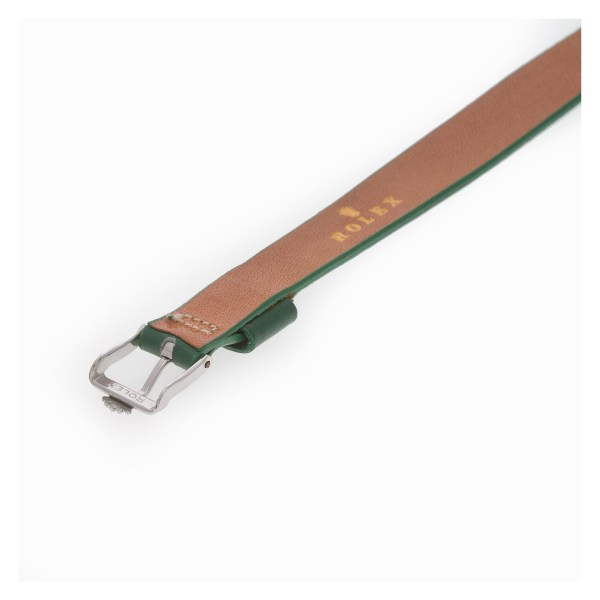 Rolex green leather strap (8.5 X 12mm)