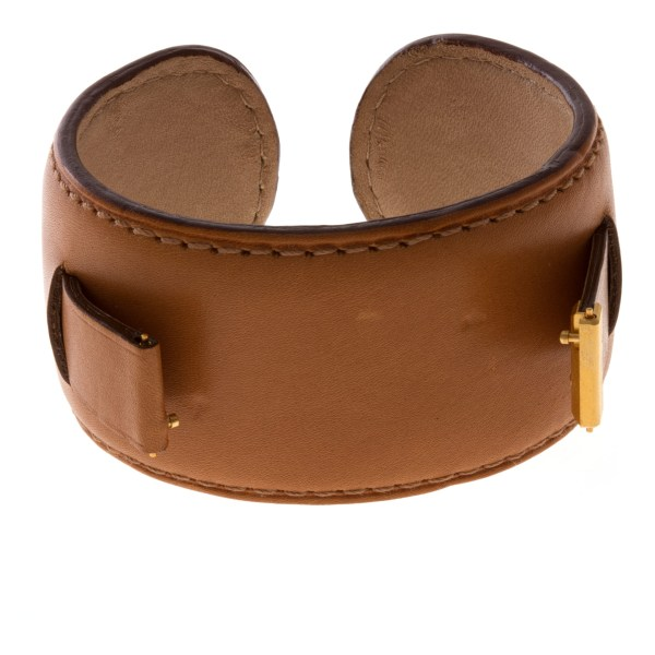 """Piaget light brown leather  cuff strap for """"Miss Protocole"""""""