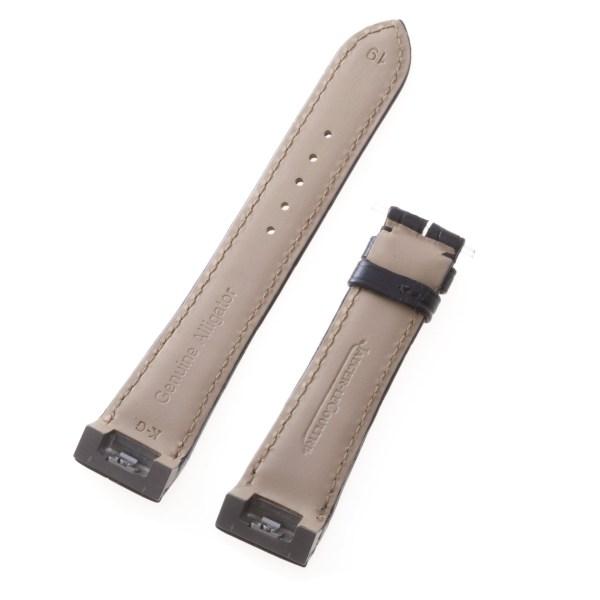 Jaeger-LeCoultre black alligator strap (19x16)
