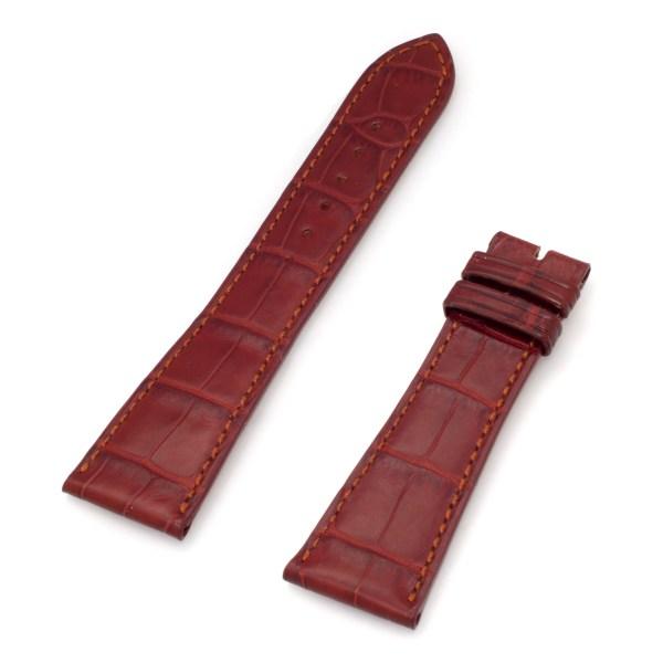 "Patek Philippe Cognac Alligator (24x18). Length is 4.5"" (long piece) and 3"" (short piece)"