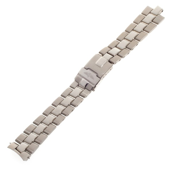 Breitling Fighter stainless steel band with deployant clasp (18mm)