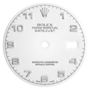 Rolex Datejust white Arabic numeral dial