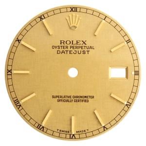 Rolex Datejust gold linen stick dial