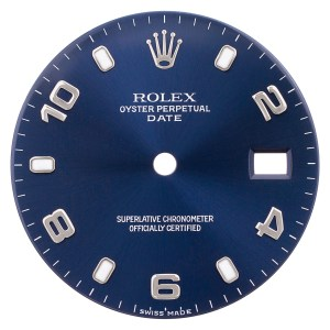 Rolex Date blue arabic dial