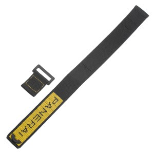 Panerai black and yellow nylon strap (24mm x 24mm)