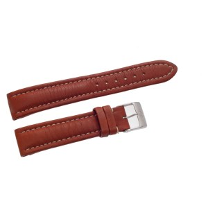 Breitling brown leather strap with original st/s buckle at 18mm x 16mm
