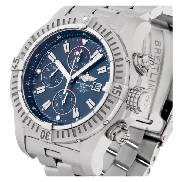 Breitling Super Avenger A13370 stainless steel 46.5mm auto watch