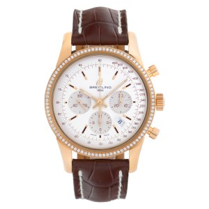 Breitling Transocean Chronograph RB0152 18k rose gold Silver dial 42mm Automatic