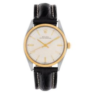 Rolex Oyster Perpetual 5501 18k & steel 34mm auto watch