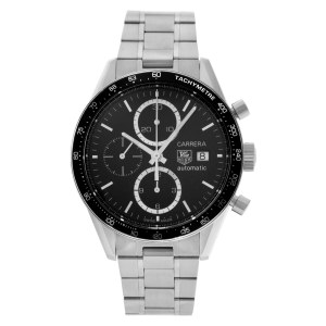 Tag Heuer Carrera CV2010-1 Stainless Steel Black dial 41mm Automatic watch