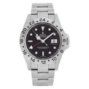 Rolex Explorer II 16570 Stainless Steel Black dial 39mm Automatic watch