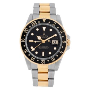 Rolex GMT-Master 16713 18k & steel 40mm auto watch