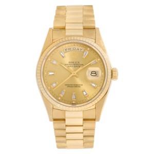 Rolex Day-Date 18038 18k 34mm auto watch