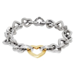 Tiffany & Co.Heart link sterling silver bracelet
