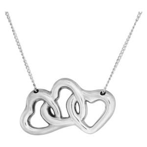 Tiffany & Co. three hearts necklace in sterling silver