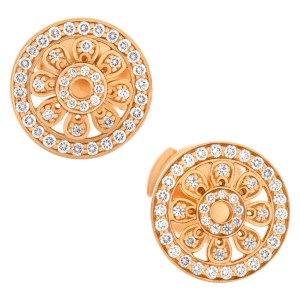 Tiffany & Co. Flower collection, Earrings stud in 18k Rose Gold W/ Diamonds