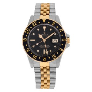 Rolex GMT-Master 16753 18k & Stainless Steel Black dial 38mm Automatic watch