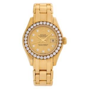 Rolex Pearlmaster 80298 18k 29mm auto watch