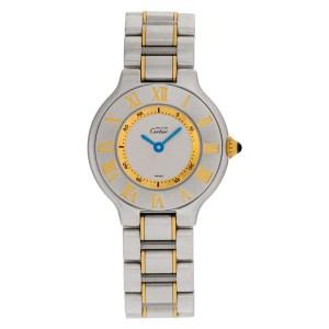 Cartier Must 21 1340 18k & steel 28mm Quartz watch