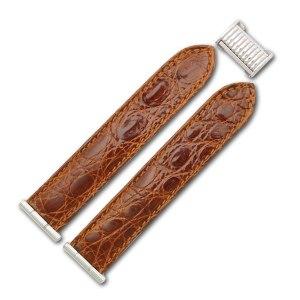Boucheron Reflet medium steel brown alligator strap (20x20)