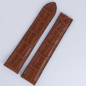 Cartier brown alligator strap (19x16)